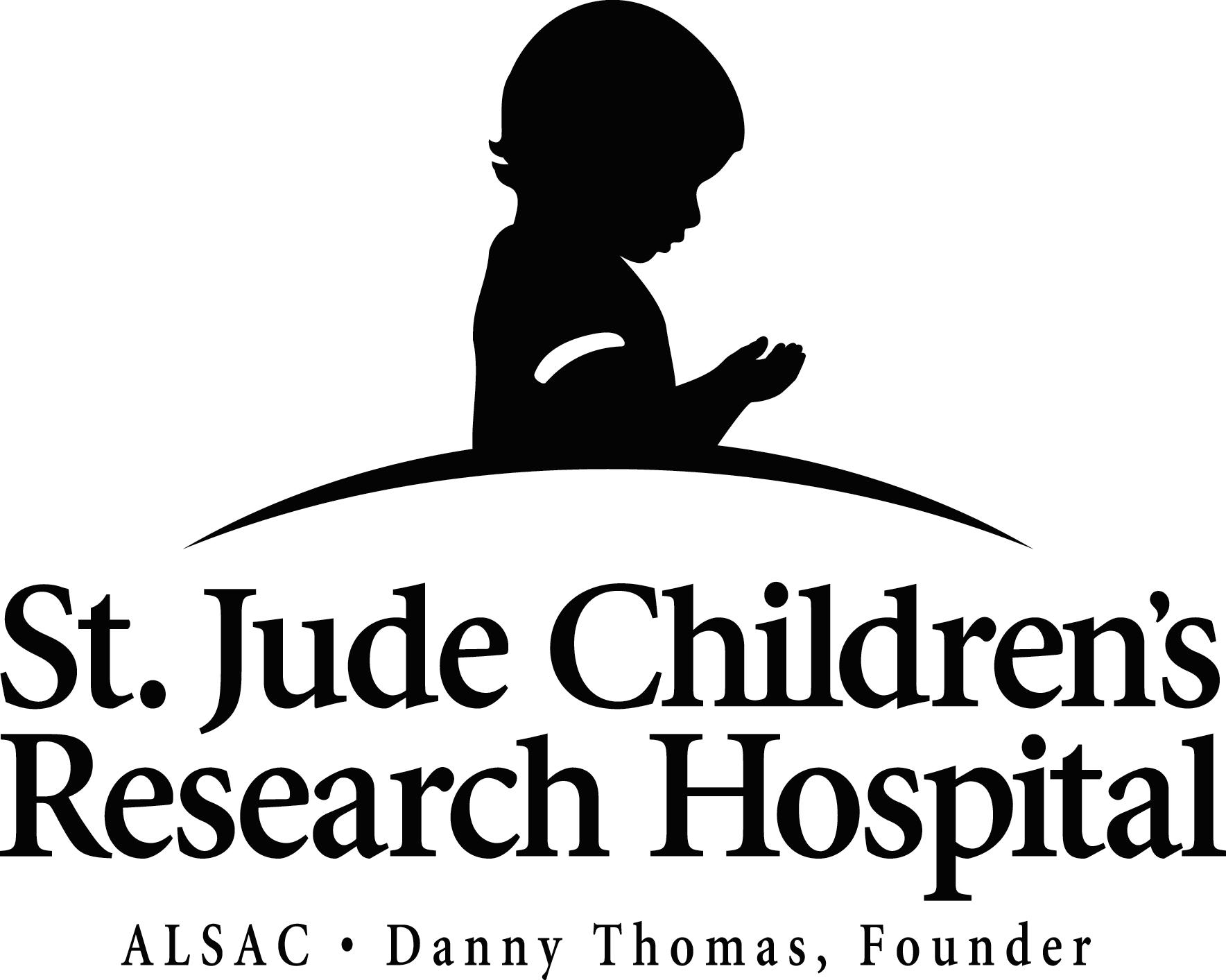 st jude childrens research hospital Product features lapel pin die cut in the shape of the stjude praying child graphic.